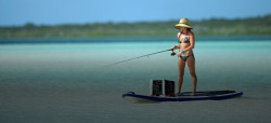 Paddle board fishing tackle