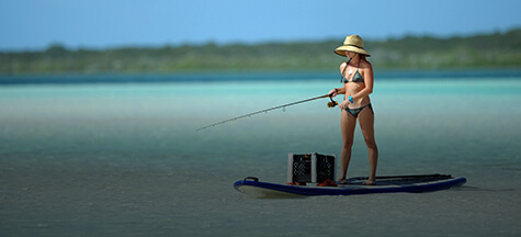 Paddle board fishing tackle