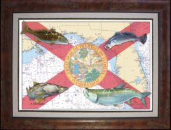 Florida Flag by one of the marine artists featured at Coastal Outfitters